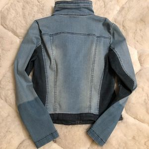 INC International Concepts Jackets & Coats - NWOT....Colorblocked Denim Moto Jacket